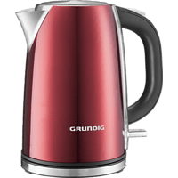 GRUNDIG WK 6330 Wasserkocher, Metallic/Rot/Edelstahl