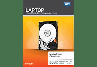 WD Laptop Mainstream™ Festplatte, 500 GB HDD SATA 3 Gbps, 2,5 Zoll, intern