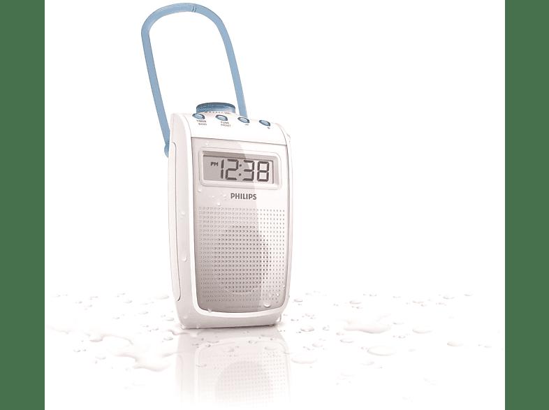 PHILIPS AE2330 Badezimmer Radio (UKW, MW, Weiß)