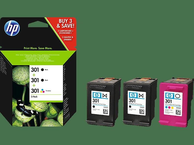 HP 301 Tintenpatrone 3er Pack mehrfarbig (E5Y87EE)