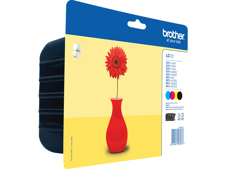 BROTHER LC 121 Tintenpatrone Value Pack mehrfarbig (LC-121VALBPDR)