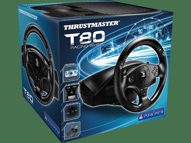 THRUSTMASTER T80 RS (inkl. 2-Pedalset, PS4 / PS3) , Lenkrad, Schwarz