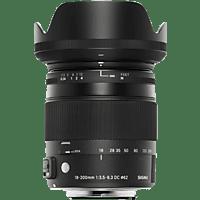 SIGMA 885954 Allround-Zoom Objektiv für Canon EF, 18 mm - 200 mm, f/3.5-6.3
