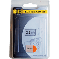BILORA 2,5 Zoll 2001-25 Displayschutz, LCD 2.5 Zoll, Transparent
