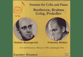 RICHTER,SVIATOSLAV & ROSTROPOVICH,MSTISLAV, Rostropowitsch & Richter - Grieg/Beethoven:Cello Sonatas  - (CD)