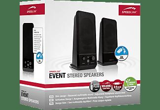 SPEEDLINK EVENT Stereo Lautsprecher, schwarz (SL-8004-BK)
