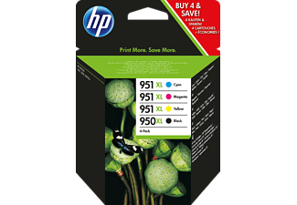 HP Tintenpatronen Multipack Nr. 950XL Schwarz/951XL Cyan/Magenta/Gelb (C2P43AE)