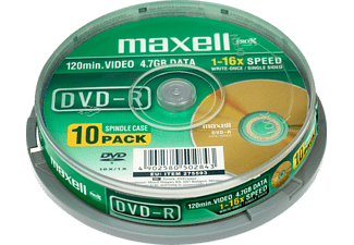 MAXELL DVD-R 4.7 16F SPINDLE 10ER