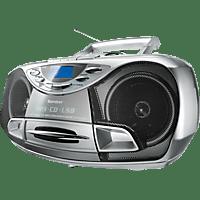 KARCHER RR 510N mit Kassettendeck Radiorecorder (Silber)
