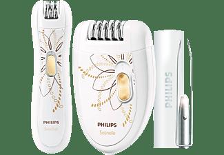 Depiladora - Philips HP 6540/00 Depilación de arranque, Cabezal lavable, Múltiples accesorios