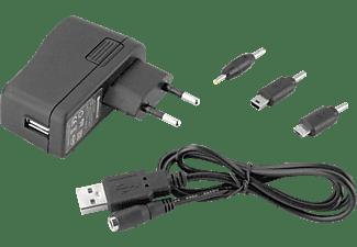 Cargador universal para tablet - Woxter Adaptor 30, 3 conectores, negro