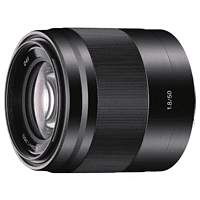 SONY SEL50F18 50 mm f/1.8 OSS, Circulare Blende (Objektiv für Sony E-Mount, Schwarz)