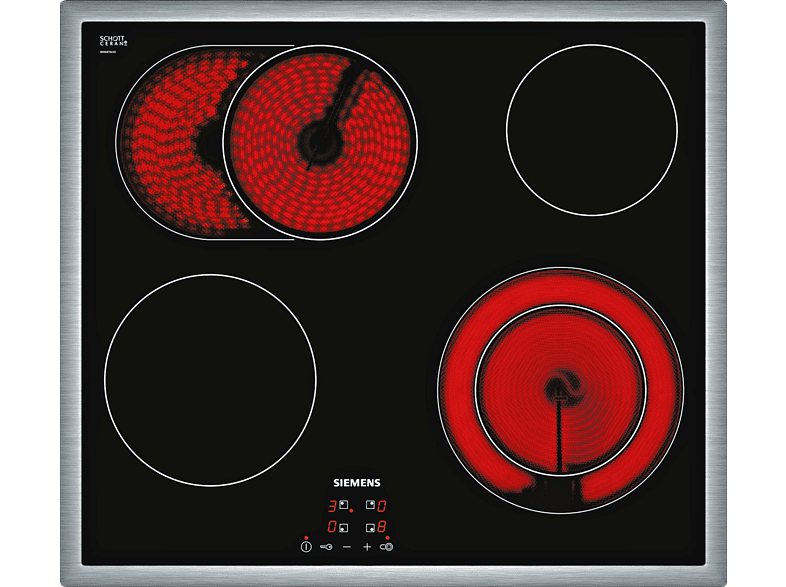 SIEMENS ET 645 HN 17 E Glaskeramikkochfeld (583 mm breit, 4 Kochfelder)