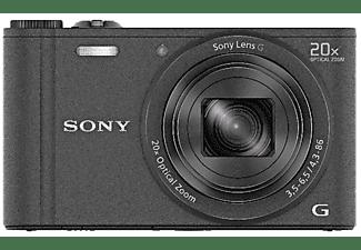 Cámara - Sony DSC-WX350 Negro, WiFi, NFC, 18.2Mp, zoom óptico 20x
