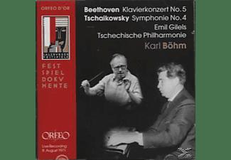 Emil Gilels - Klavierkonzert 5 op.73/Sinfonie 4 op.36  - (CD)