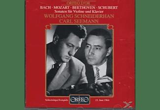 Seemann & Schneiderhan - Violinsonaten BWV 1016/KV 454/op.12,3/D 574  - (CD)