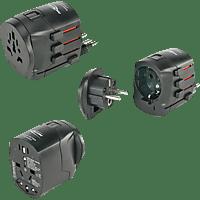 AC AC Spannungswandler Konverter Adapter USA Japan 110V Deutschland /Österreich Schweiz Spanien Italien und viele weitere L/änder 220V 240V Schwarz