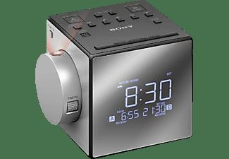 Despertador - Sony ICF-C1PJ, Plata, Proyección de la hora