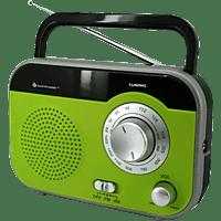 SOUNDMASTER TR410GR Radio AM / FM Tuner, Grün/Silber