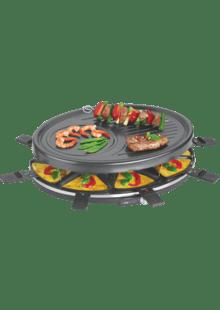 Elektrogrill Tischgrill Elektrisch Gro/ße Grillfl/äche Raclette Grill 12 Personen 12 Pf/ännchen, 1800 Watt, Antihaftbeschichtung, Gro/ßer Party Grill