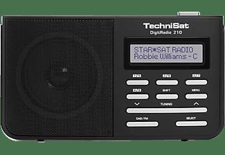 TECHNISAT DIGITRADIO 210 Digitalradio, DAB+, DAB, Schwarz/Silber