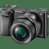 SONY Systemkamera Alpha 6000+16-50mm schwarz (ILCE-6000LB) E-Mount-Kamera mit APS-C-Sensor
