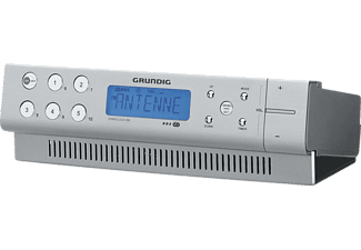GRUNDIG Sonoclock 890 Radio-Uhr, Ja, Aluminium