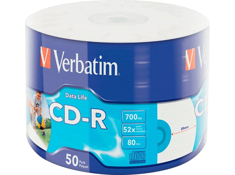 VERBATIM 43794 Printable Bedruckbar CD-R 52X Rohling