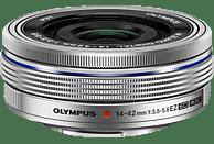 OLYMPUS M.ZUIKO Digital ED 14-42mm F3,5-5,6 14 mm - 42 mm f/3.5 (Weitwinkel), f/5.6 (Tele) ED, MSC (Objektiv für Micro-Four-Thirds, Silber)
