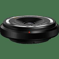 OLYMPUS Body Cap Lens 9mm F8.0 9 mm-9 mm f/8  (Objektiv für Micro-Four-Thirds, Schwarz)
