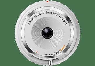 OLYMPUS Body Cap Lens 9mm F8.0 9 mm - 9 mm f/8 (Objektiv für Micro-Four-Thirds, Weiß)