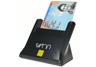 Lector DNI electrónico - Sveon SCT022, LED, USB, base, Smart Cards, color negro