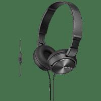 SONY MDR-ZX310AP mit Headsetfunktion, Over-ear Kopfhörer  Schwarz
