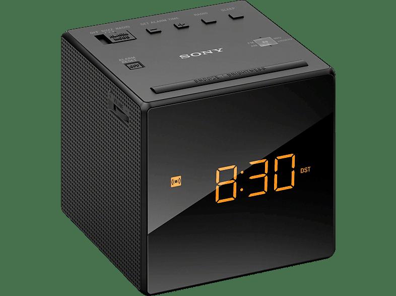 Sony Icf C1 Radio Uhr Analog Tuner Schwarz Analog Tuner Mediamarkt