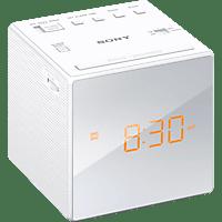 SONY ICF-C1W Radio-Uhr (Analog Tuner, FM, AM, Weiß)