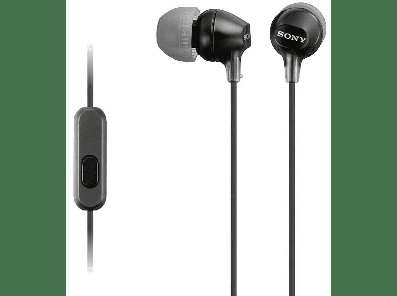 SONY MDR-EX 15 AP, In-ear Headset  Schwarz