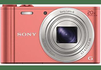 Cámara - Sony DSC-WX350, WiFi, NFC, 18.2Mp, Zoom óptico 20x, Rosa