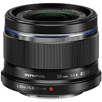 OLYMPUS M.ZUIKO Digital 25mm 1:1.8 25 mm - 25 mm f/1.8 MSC (Objektiv für Micro-Four-Thirds, Schwarz)