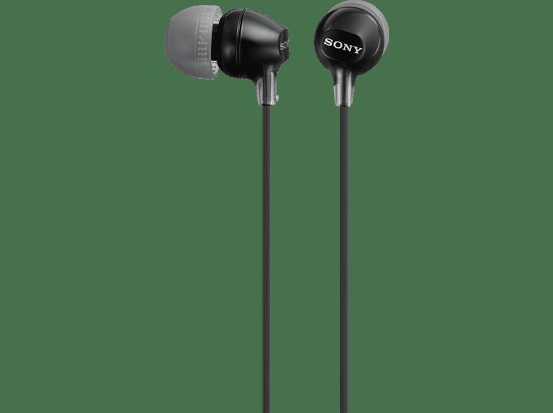 SONY MDR-EX 15 LPB, In-ear Kopfhörer  Schwarz
