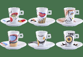 ZELLER 26505 Faces 12-tlg. Espresso-Set Mehrfarbig