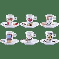 ZELLER 26505 Faces 12-tlg. Espresso-Set