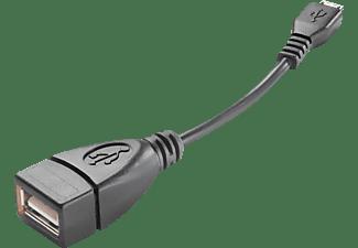Cable USB - Cellular Line OTGUSBADAPTERSMPH, Adaptador, OTG, Micro USB