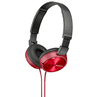 SONY MDR-ZX310, Over-ear Kopfhörer  Rot