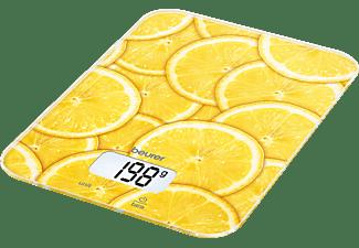 Balanza de cocina - Beurer KS19 Lemon Peso máximo 5Kg, Escala de medición 1g, Display digital
