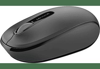 Ratón inalámbrico - Microsoft Wireless Mobile Mouse 1850, Negro, Nano transceptor Plug-and-go, Negro
