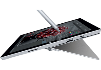 MICROSOFT Surface Pro 3, Convertible mit 12 Zoll Display, Core i7 Prozessor, 8 GB RAM, 256 GB Interner Speicher, Silbergrau