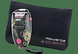Depiladora - Rowenta EP 5604 E0 Tecnología Micro-contact, 2 velocidades Diseño Rowenta by Custo