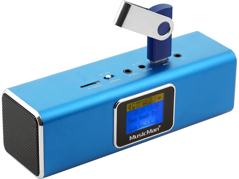TECHNAXX Musicman MA Display Soundstation Dockingstation, Blau