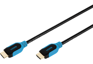 VIVANCO HDMI Kabel 2.5 Meter High Speed mit Ethernet, blau-schwarz