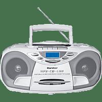 KARCHER RR 510N mit Kassettendeck Tragbares CD-Radio (Weiß)